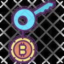 Key Bitcoin Key Digital Key Icon