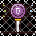 Bitcoin Key Digital Key Encryption Key Icon