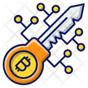 Bitcoin Key Currency Blockchain Icon