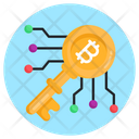 Digital Key Bitcoin Key Cyber Key Icon