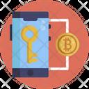 Bitcoin Blockchain Key Icon