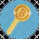 Bitcoin Key Blockchain Icon