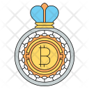 Bitcoin King Cryptocurrency Icon