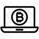 Money Laptop Blockchain Icon