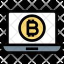 Bitcoin Laptop Bitcoin Money Icon