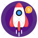 Bitcoin Launch Bitcoin Startup Cryptocurrency Startup Icon