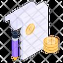 Bitcoin Accounts Bitcoin Ledger Bitcoin Document Icon