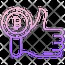 Bitcoin Like Bitcoin Rate Icon