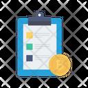 Clipboard Bitcoin List Icon