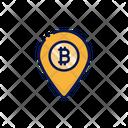 Bitcoin Location Location Pointer Location Marker Icon