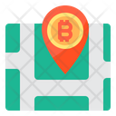Bitcoin Location Icon