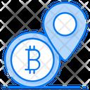 Bitcoin Location Bank Pointer Bitcoin Pin Icon