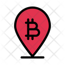 Map Bitcoin Currency Icon