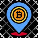 Location Bitcoin Icon