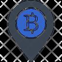 Map Bitcoin Locatio Icon
