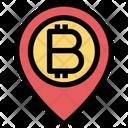 Bitcoin Location Map Bitcoin Icon