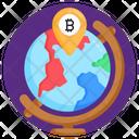 Bitcoin Location Bitcoin Pin Cryptocurrency Location Icon