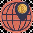 Bitcoin Location Pin Icon