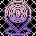 Bitcoin Location Location Pin Icon