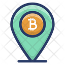 Bitcoin Location Pin Icon
