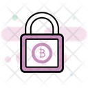 Bitcoin Protection Bitcoin Lock Bitcoin Security Icon