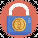 Bitcoin Security Password Icon