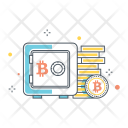 Bitcoin Storage Locker Icon