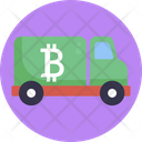 Bitcoin Lorry Cryptocurrency Icon