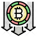 Bitcoin Loss Decline Currency Icon