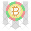 Bitcoin Loss Decline Bitcoin Icon