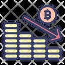 Loss Decrease Arrow Coin Icon
