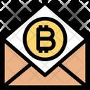 Bitcoin Mail Bitcoin Blockchain Icon
