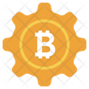 Bitcoin Management Bitcoin Setting Blockchain Setting Icon