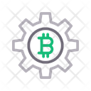 Bitcoin Currency Setting Icon