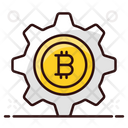 Bitcoin Management Btc Management Blockchain Management Icon