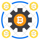 Gear Coin Bitcoin Icon