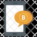 Bitcoin Message Bitcoin Communication Financial Communication Icon