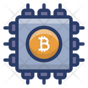 Bitcoin Microchip Icon