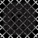 Bitcoin Microchip Integrated Circuit Blockchain Chip Icon