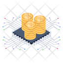 Bitcoin Technology Bitcoin Microchip Bitcoin Network Icon