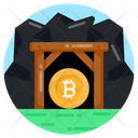 Bitcoin Crypto Bitcoin Mine Financial Mining Icon