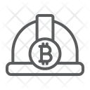 Bitcoin Miner Hat Icon