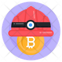 Miner Hat Bitcoin Miner Hat Bitcoin Worker Icon