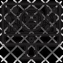 Bitcoin Mining Computer Icon