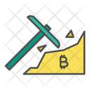 Bitcoin Mining Cryptocurrency Icon