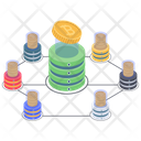 Bitcoin Mining Blockchain Mining Farm Icon