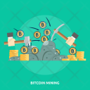 Bitcoin Mining Finance Icon