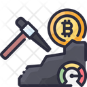 Bitcoin Cryptocurrency Mining Icon