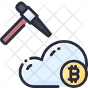Bitcoin Cloud Crypto Icon