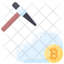 Bitcoin Cloud Crypto Icon